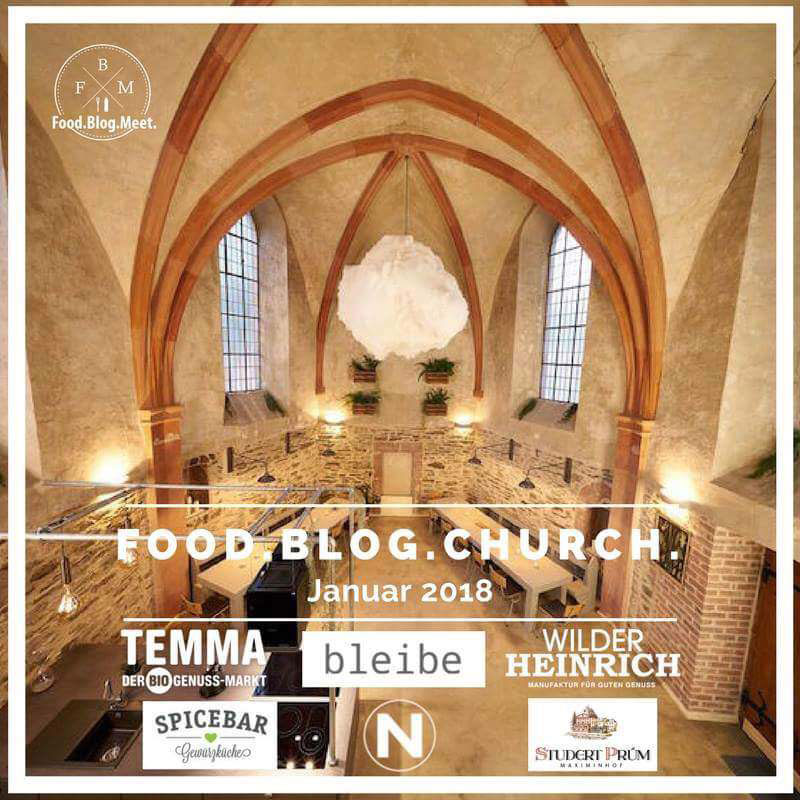 Food.Blog.Church 2018 Banner und Sponsoren