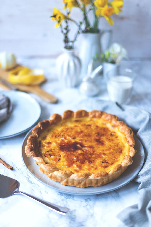 Rezept für Pastel de Nata Tarte (Pastéis de Nata) | Foodblogger-Osterbrunch | moeyskitchen.com