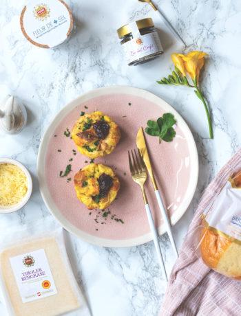 Werbung: Rezept für herzhafte French Toast Muffins mit REWE Feine Welt Produkten | Osterbrunch | moeyskitchen.com