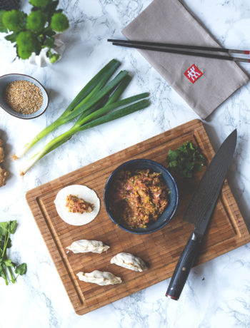 (Werbung für Miyabi) Rezept für Gyoza mit Schweinefleisch-Füllung | Yaki-Gyōza | moeyskitchen.com
