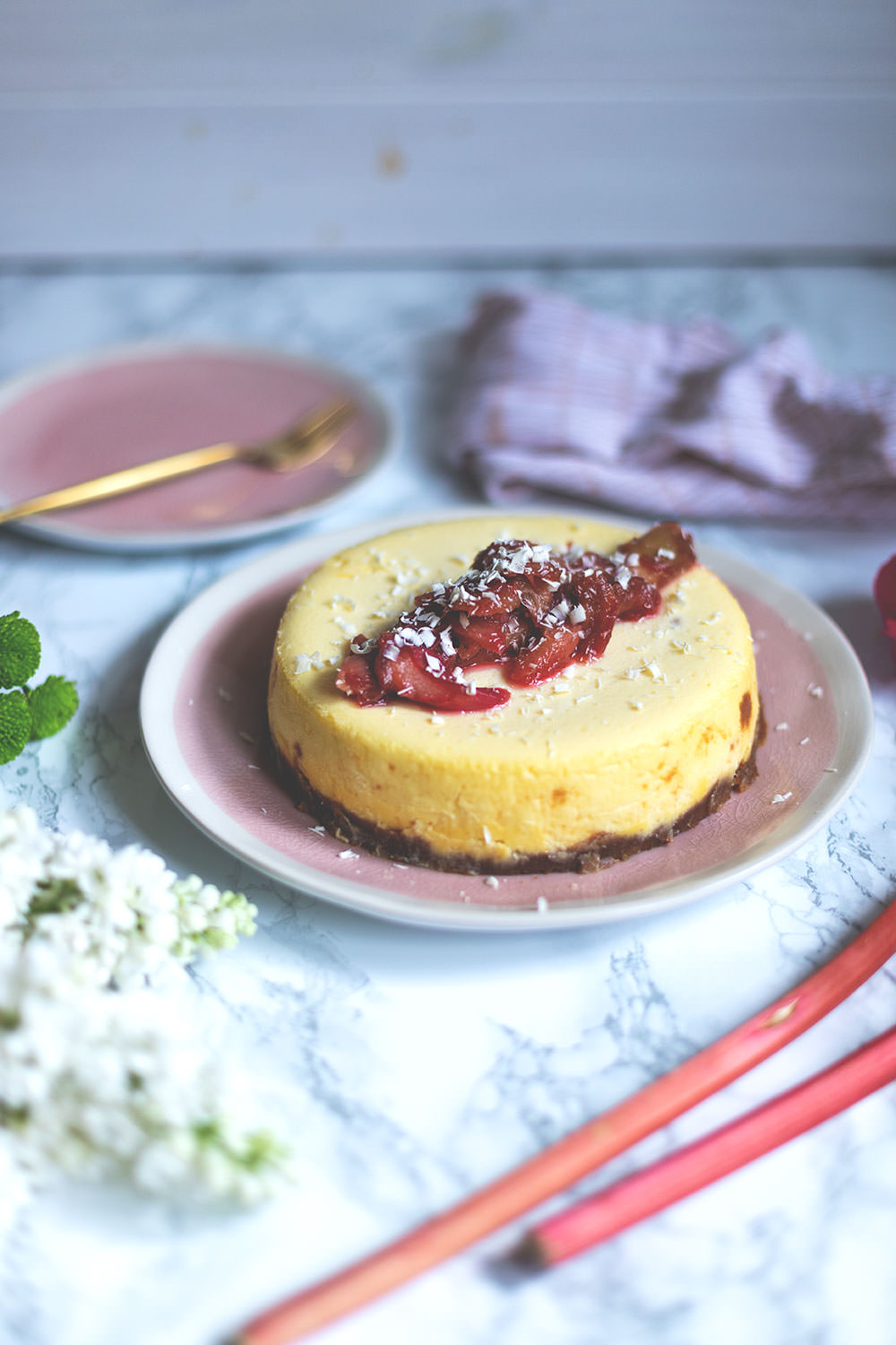 Rhabarber Cheesecake Aus Dem Varoma Thermomix Donnerstag Moey S