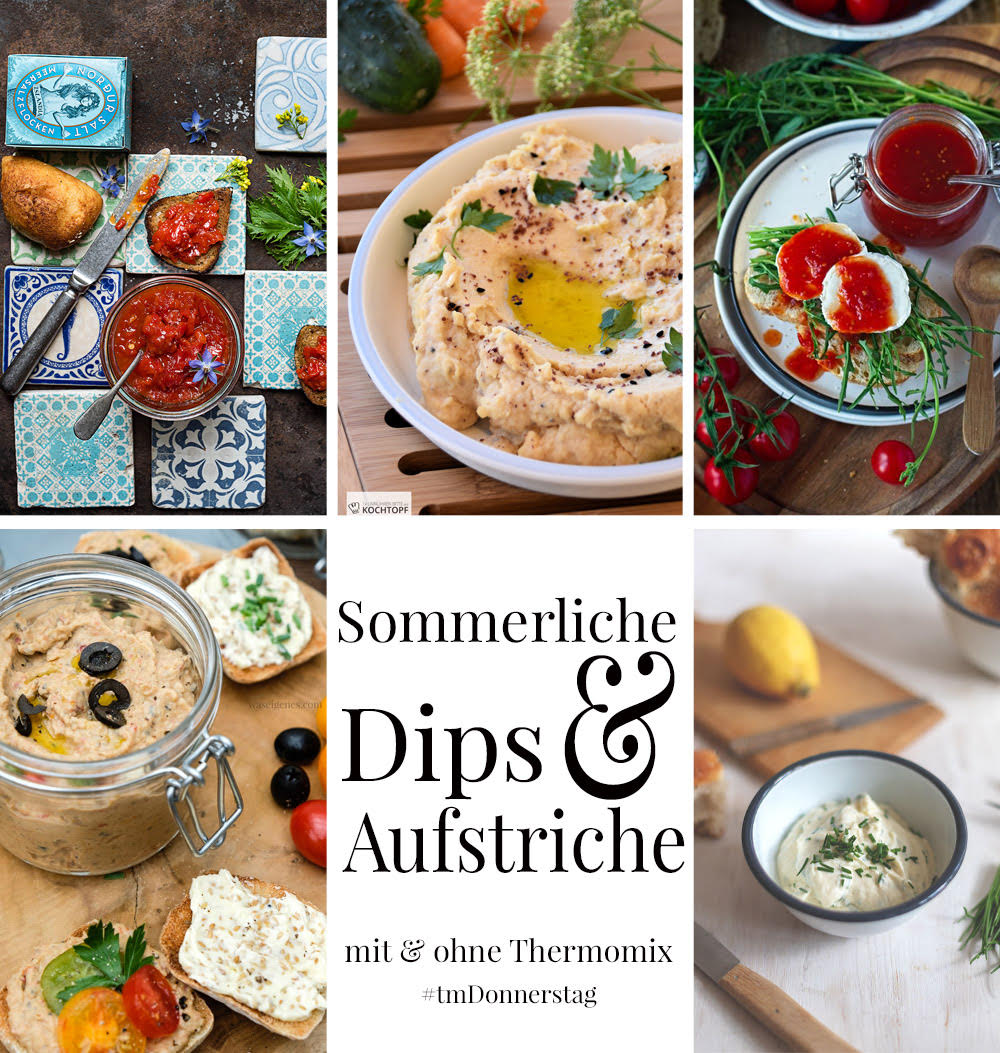 Thermomix Donnerstag Collage Aufstriche & Dips