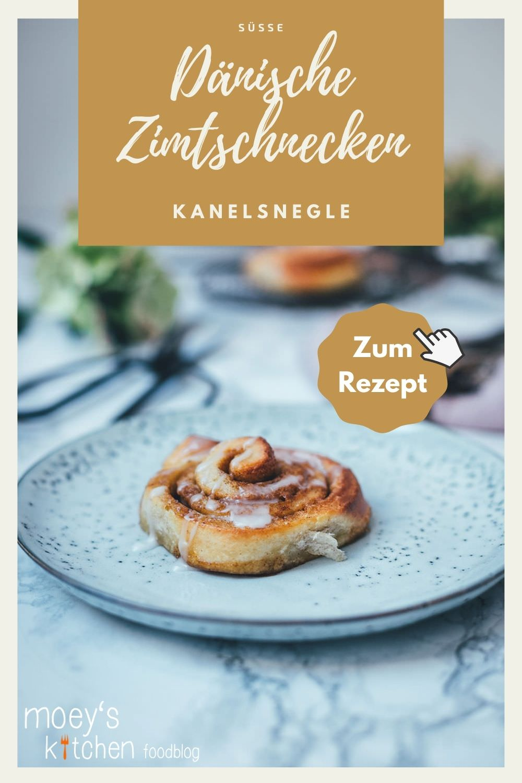Rezept für dänische Zimtschnecken / Kanelsnegle | super schnell und einfach zu machen | moeyskitchen.com #kanelsnegle #zimtschnecken #cinnamonbuns #rezepte #foodblog #breakfastbuns #gebäck #rezept #foodblogger