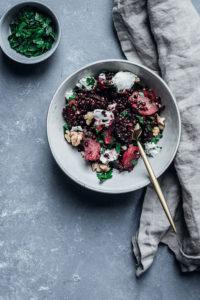 Winterlicher Bunte-Bete-Linsen-Salat