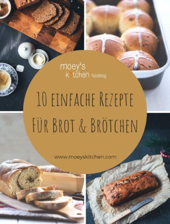 10 einfache Rezepte für Brot und Brötchen | Soda-Bread über Weißbrot, Bananenbrot und Kartoffelbrötchen bis hin zu Life Changing Bread und Schokobrötchen | moeyskitchen.com #rezepte #foodblogger #brot #brötchen #backen #brotbacken #sodabread #weissbrot #bananenbrot #honigkuchen