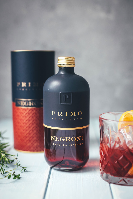 Werbung: Der Negroni von Primo Aperitivo über Lezuro