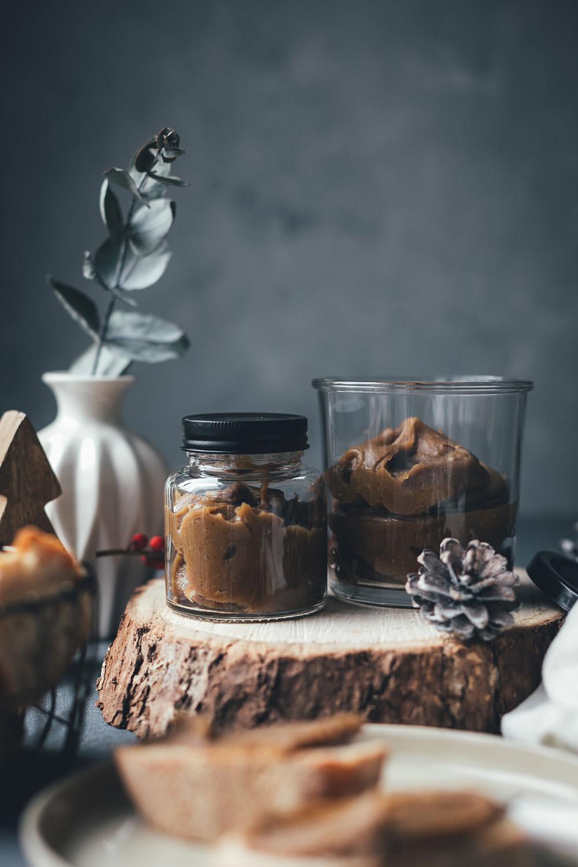 Maronencreme mit Ahornsirup | weihnachtlicher Aufstrich zum Weihnachtsfrühstück, auf Pancakes, Pfannkuchen oder Waffeln | moeyskitchen.com