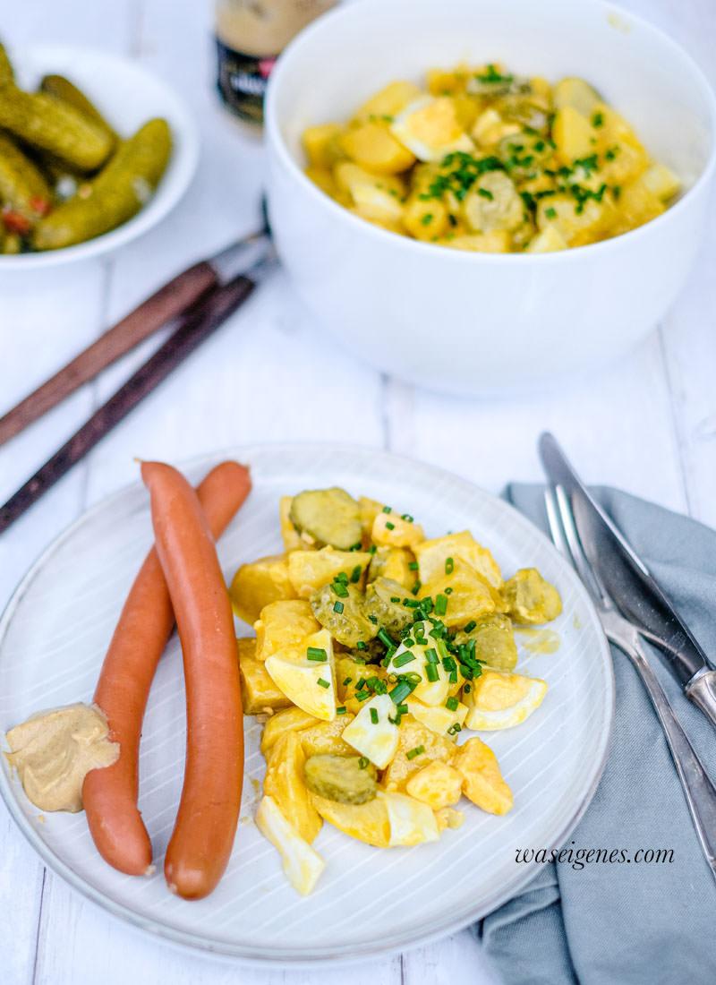 Rezept für Kartoffelsalat mit Senf-Dressing und Würstchen von was eigenes