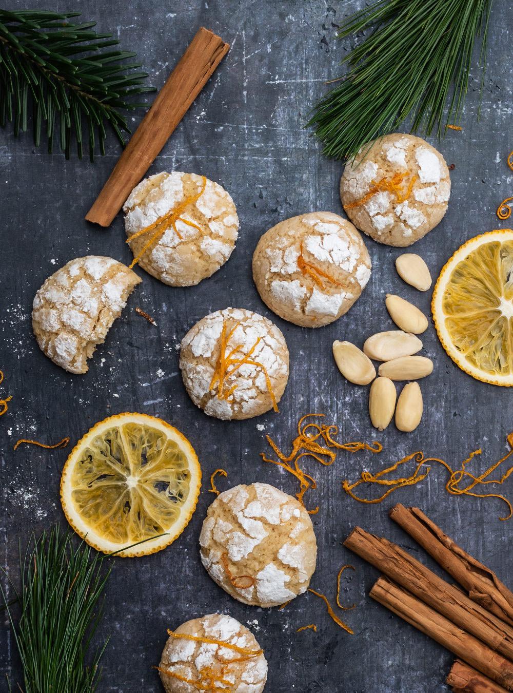 Orange Crinkle Cookies von S-Küche