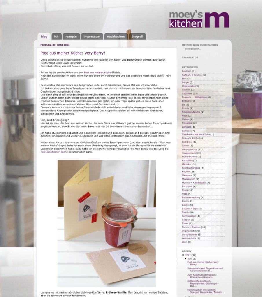 Zeitreise durch moey's kitchen foodblog von 2011 bis 2021 – Screenshots aus verschiedenen Monaten und Jahren und wie sich hier in 10 Jahren alles entwickelt hat | moeyskitchen.com