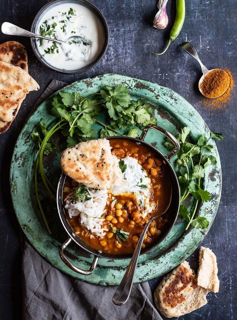 Bei Simone von S-Küche gibt es Chana Masala – original indisches Kichererbsen Curry.