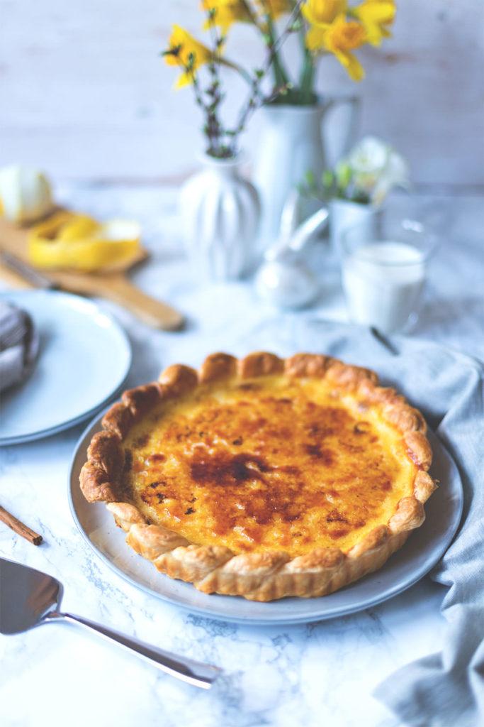 Rezept für Pastel de Nata Tarte (Pastéis de Nata) | moeyskitchen.com