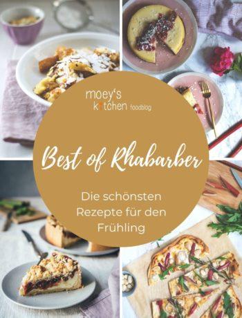 Best of Rhabarber – hier präsentiere ich euch meine besten Rezepte für den Frühlingsboten Rhabarber! Von süßen Rezepten wie Rhabarberkuchen, Cheesecake, Friands, Käsekuchen, Schmarrn usw. bis hin zu herzhaftem Rhabarber-Ketchup und Flammkuchen mit Rhabarber | moeyskitchen.com