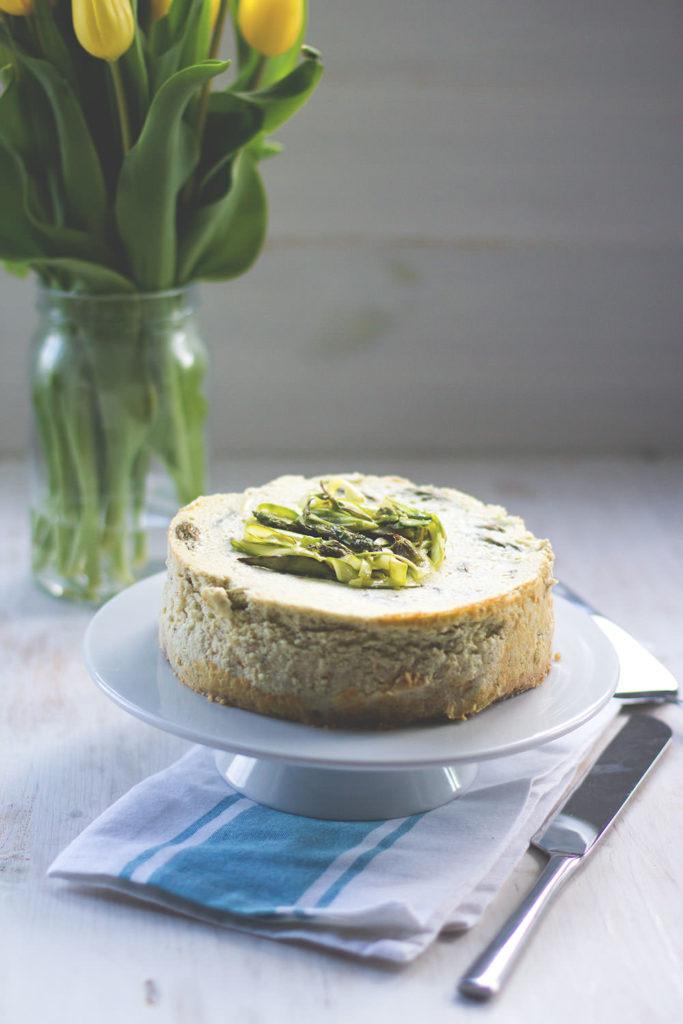 Rezept für Spargel-Cheesecake aus dem Varoma mit Feta und Ricottta | moeyskitchen.com
